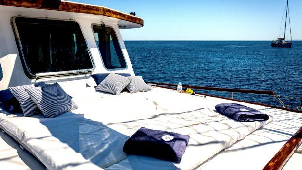 joanna k greek motor sailer sunbed (1) min -  Valef Yachts Chartering - 4383