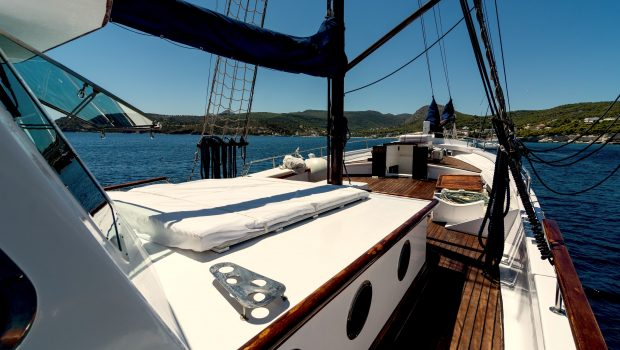 joanna k greek motor sailer sunbed (2) min -  Valef Yachts Chartering - 4382