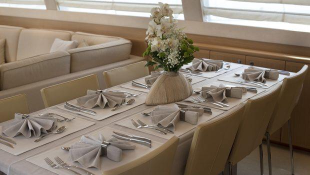 julie m motor yacht dining (2) min -  Valef Yachts Chartering - 3886