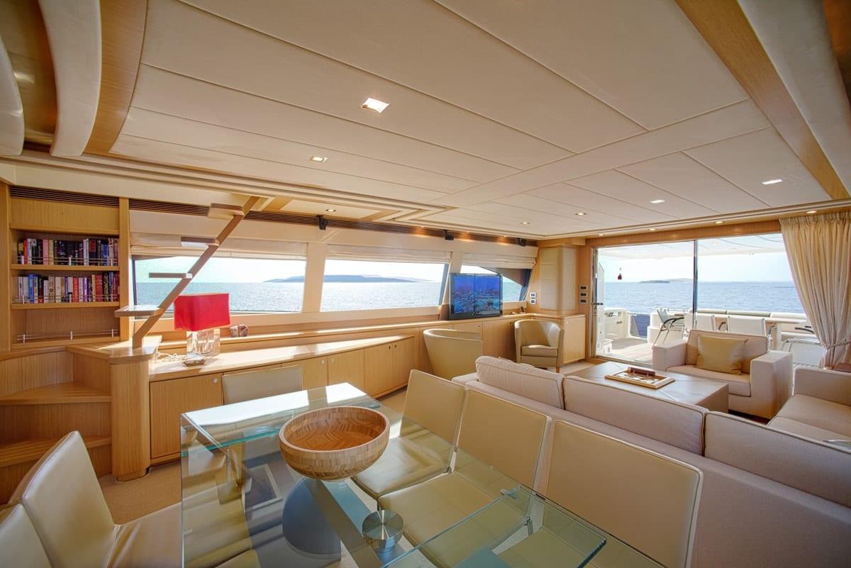 julie m motor yacht salon (3) min -  Valef Yachts Chartering - 3894