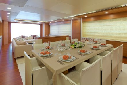 kintaro motor yacht dining (1) min -  Valef Yachts Chartering - 4541