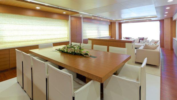 kintaro motor yacht dining (3) min -  Valef Yachts Chartering - 4539
