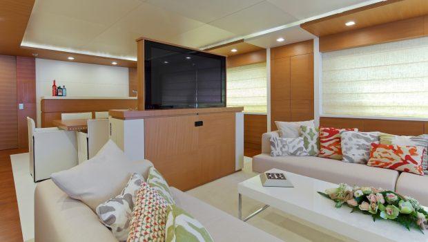 kintaro motor yacht salon tv min -  Valef Yachts Chartering - 4530