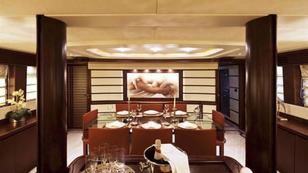 lady p motor yacht dining (1)_valef -  Valef Yachts Chartering - 5086