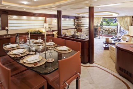 lady p motor yacht dining (2)_valef -  Valef Yachts Chartering - 5085
