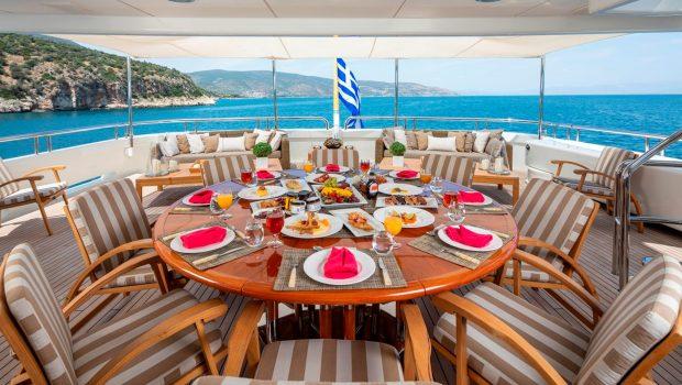 marla megayacht aft deck -  Valef Yachts Chartering - 3881