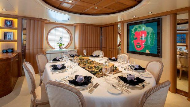 marla megayacht int dining -  Valef Yachts Chartering - 3879