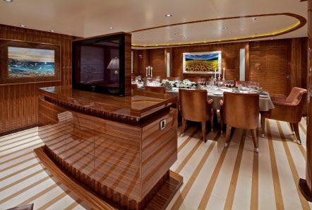 mia rama mega yacht tv dining room min -  Valef Yachts Chartering - 3959
