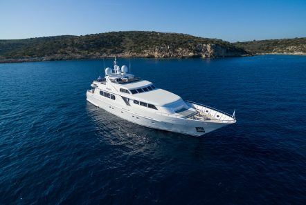 milos at sea motor yacht aerials (1) min -  Valef Yachts Chartering - 4321