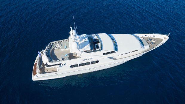 milos at sea motor yacht aerials (2) min -  Valef Yachts Chartering - 4320
