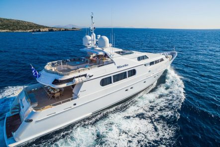 milos at sea motor yacht aerials (3) min -  Valef Yachts Chartering - 4319