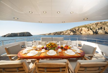 milos at sea motor yacht aft deck (2) min -  Valef Yachts Chartering - 4313