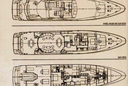 milos at sea motor yacht layout -  Valef Yachts Chartering - 4334