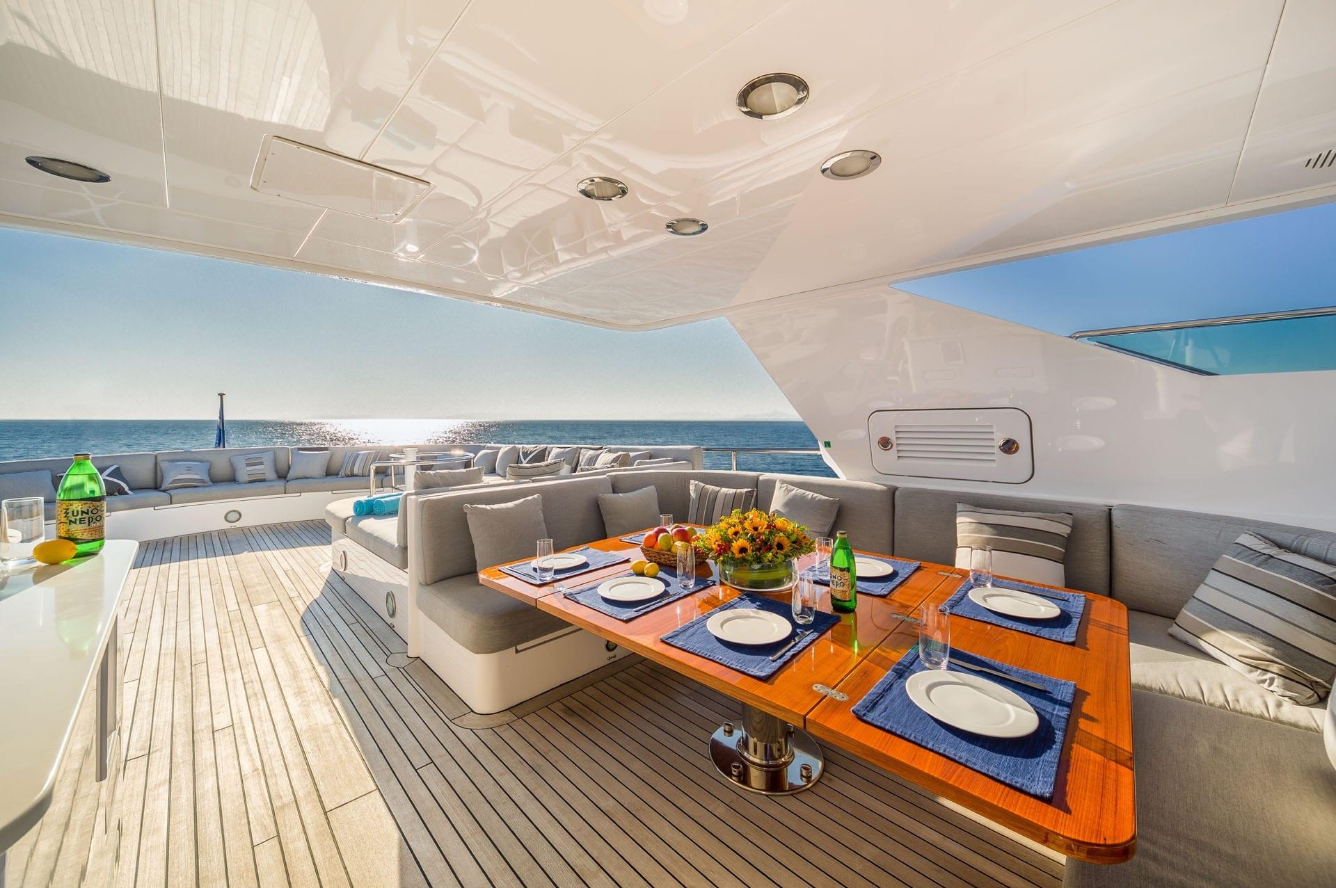 milos at sea motor yacht sundeck (2) min -  Valef Yachts Chartering - 4326