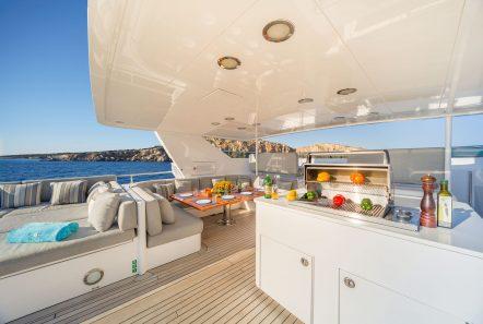 milos at sea motor yacht sundeck (3) min -  Valef Yachts Chartering - 4325