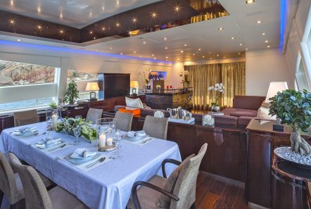 my toy motor yacht salon dining -  Valef Yachts Chartering - 4953