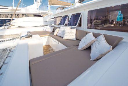 new horizons catamaran fore sunbathing_valef -  Valef Yachts Chartering - 5067