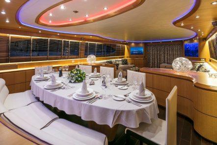 paris a motor yacht dining min -  Valef Yachts Chartering - 4756