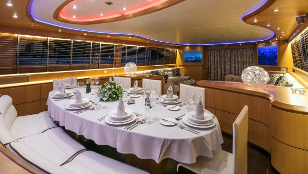 paris a motor yacht dining min -  Valef Yachts Chartering - 4756