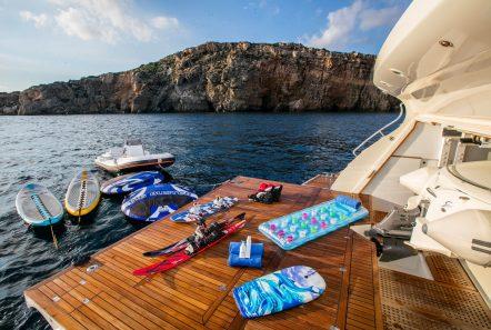 rini motor yacht swim platform -  Valef Yachts Chartering - 4854