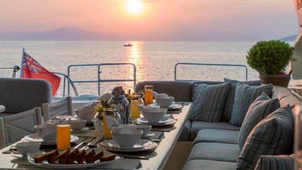romachris ii motor yacht aft -  Valef Yachts Chartering - 4071
