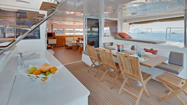 selene catamaran dining min -  Valef Yachts Chartering - 4458