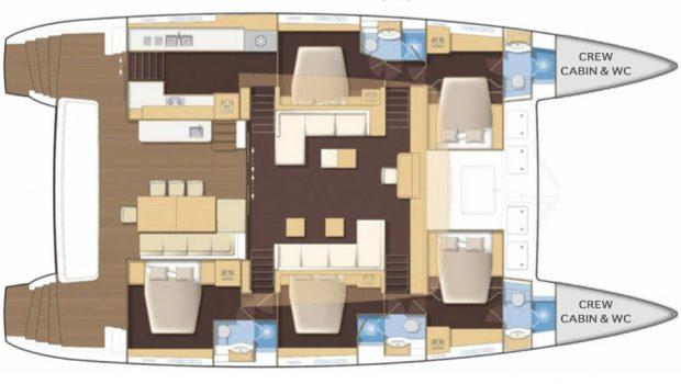 selene catamaran layout min -  Valef Yachts Chartering - 4455
