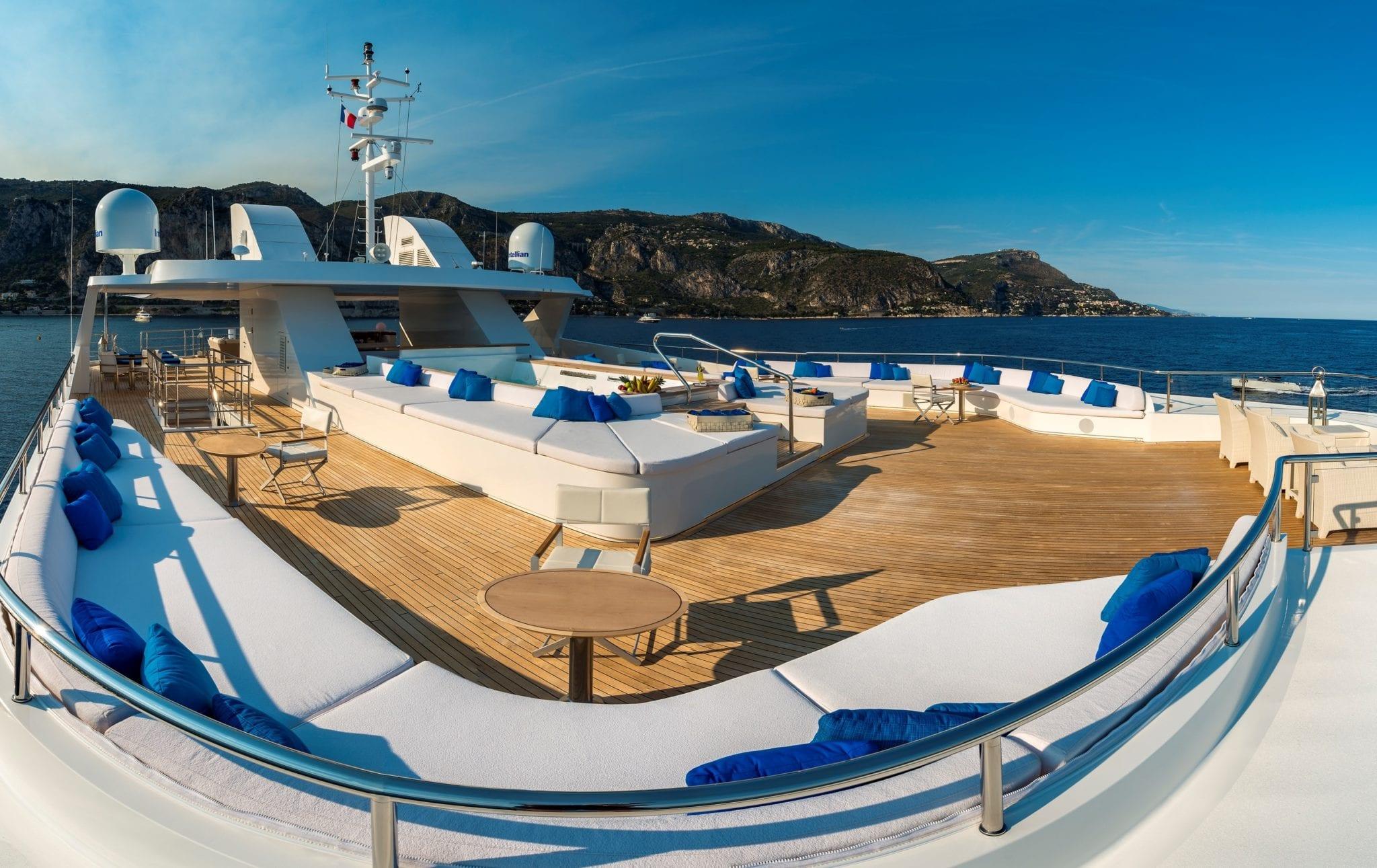 serenity superyacht sundeck (5) min -  Valef Yachts Chartering - 4159