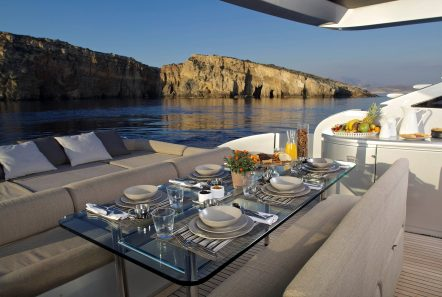 solaris motor yacht aft dining min -  Valef Yachts Chartering - 4657