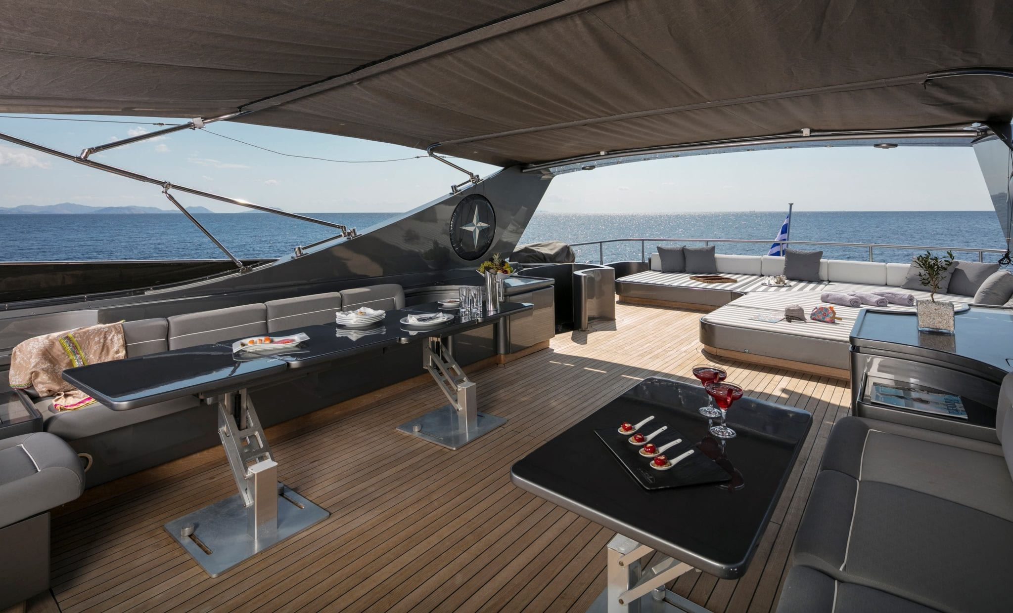summer dreams motor yacht shaded upper deck min -  Valef Yachts Chartering - 4724