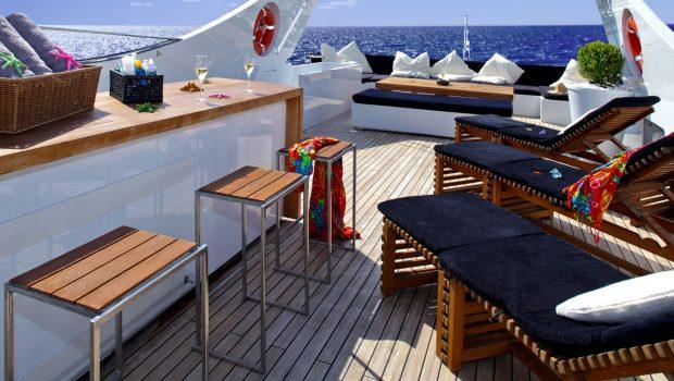 tropicana motor yacht sundeck bar_valef -  Valef Yachts Chartering - 5142