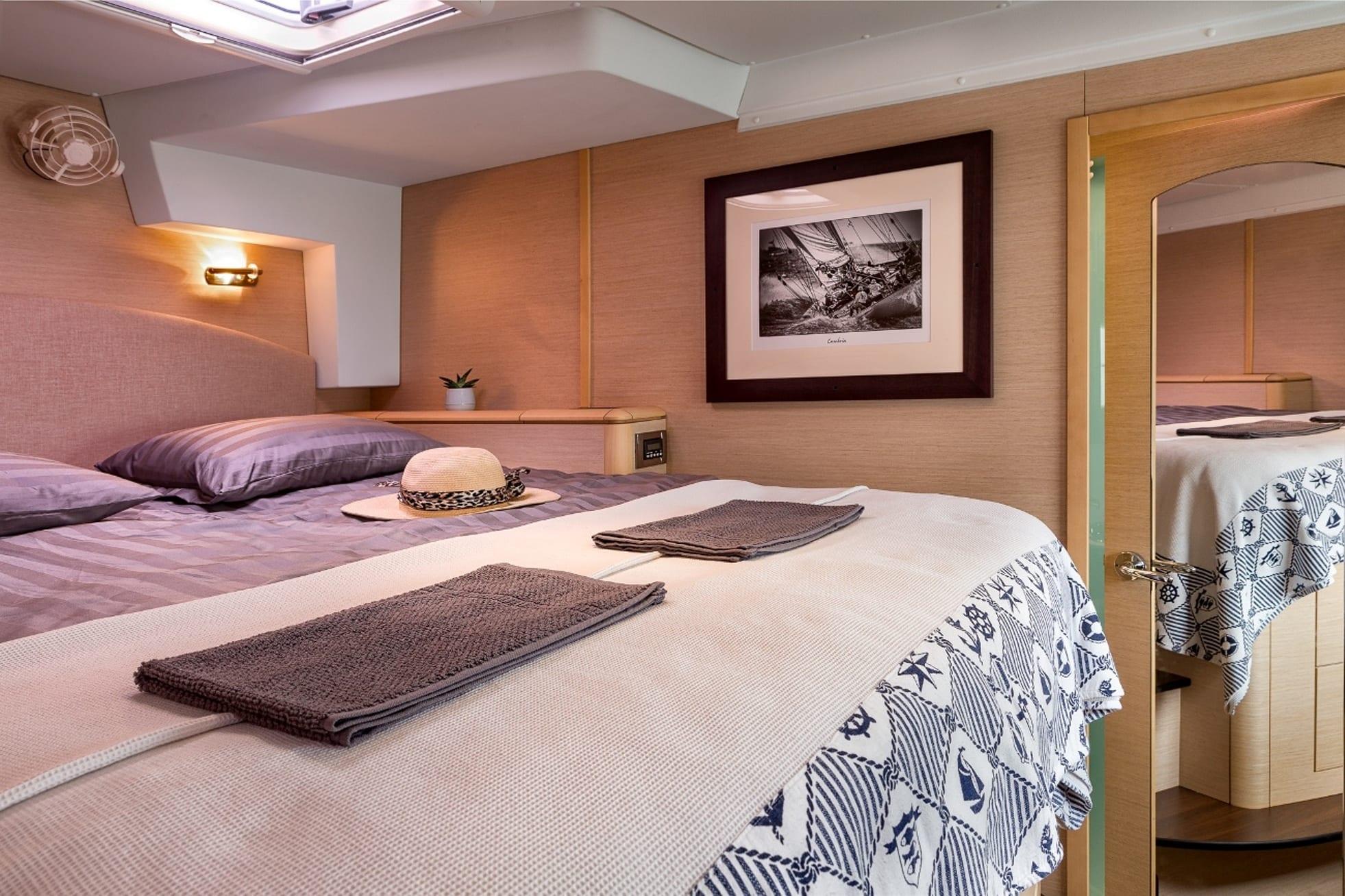 twin pride lagoon 500 cabins (1) -  Valef Yachts Chartering - 3771