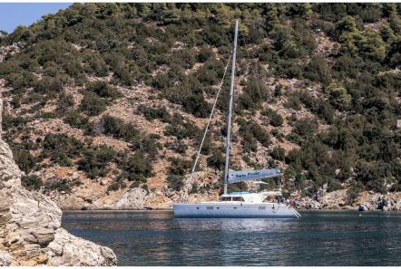 twin pride lagoon 500 docked -  Valef Yachts Chartering - 3772