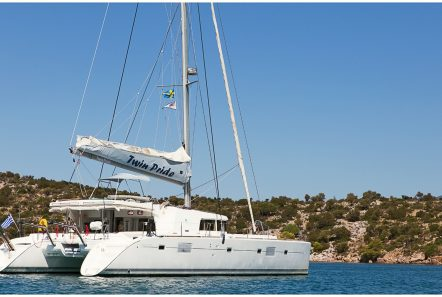 twin pride lagoon 500 exteriors (1) -  Valef Yachts Chartering - 3774