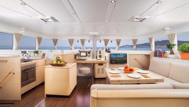 twin pride lagoon 500 salon (2) -  Valef Yachts Chartering - 3778
