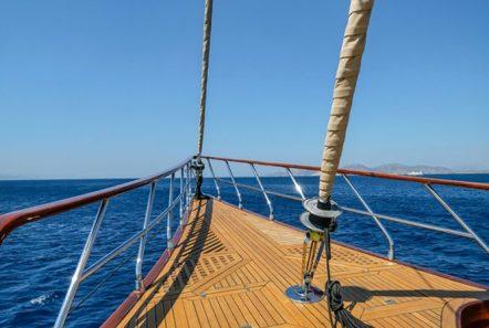 aegean schatz motor sailer gulet bow -  Valef Yachts Chartering - 3037