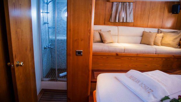 aegean schatz motor sailer gulet cabins (3) -  Valef Yachts Chartering - 3034