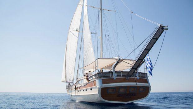 aegean schatz motor sailer gulet exterior (7) -  Valef Yachts Chartering - 3018