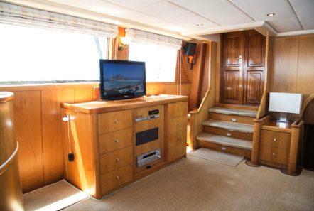 aegean schatz motor sailer gulet salon view (1) -  Valef Yachts Chartering - 3046