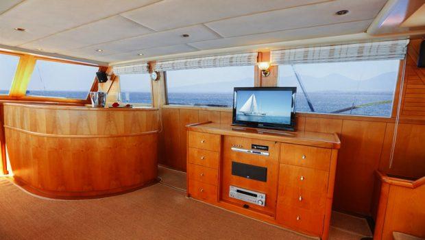 aegean schatz motor sailer gulet salon view (2) -  Valef Yachts Chartering - 3047