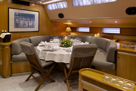 amadeus sailing yacht dining interior min -  Valef Yachts Chartering - 3558