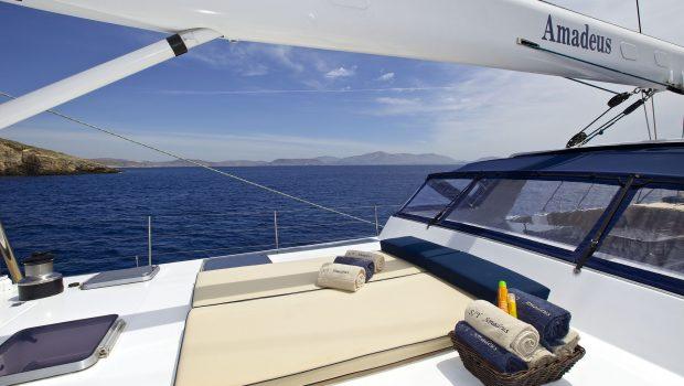 amadeus sailing yacht sunbeds (1) min -  Valef Yachts Chartering - 3547