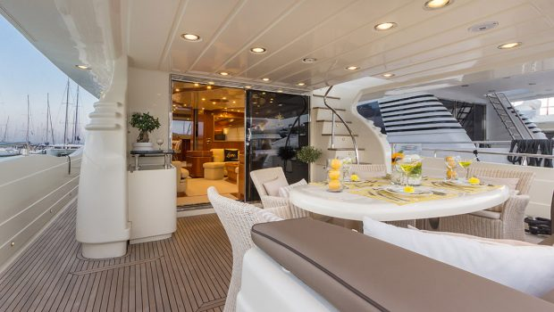 amoraki motor yacht aft deck -  Valef Yachts Chartering - 2586
