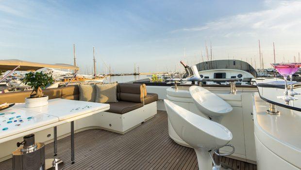amoraki motor yacht sundeck -  Valef Yachts Chartering - 2590