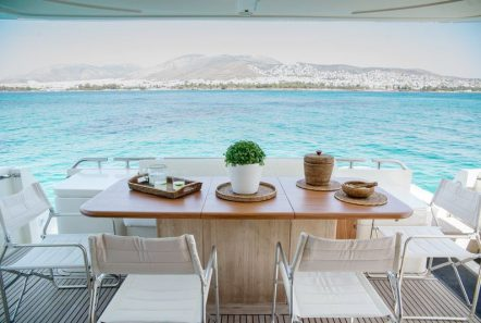ananas motor yacht aft -  Valef Yachts Chartering - 2567