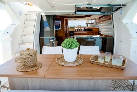 ananas motor yacht aft deck -  Valef Yachts Chartering - 2566