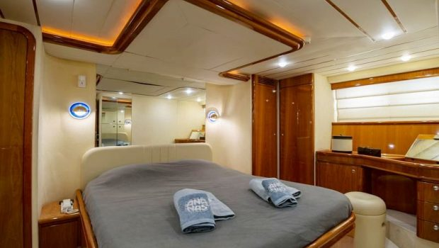 ananas motor yacht master stateroom -  Valef Yachts Chartering - 2560
