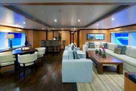 andreas l megayacht upper salon -  Valef Yachts Chartering - 3420