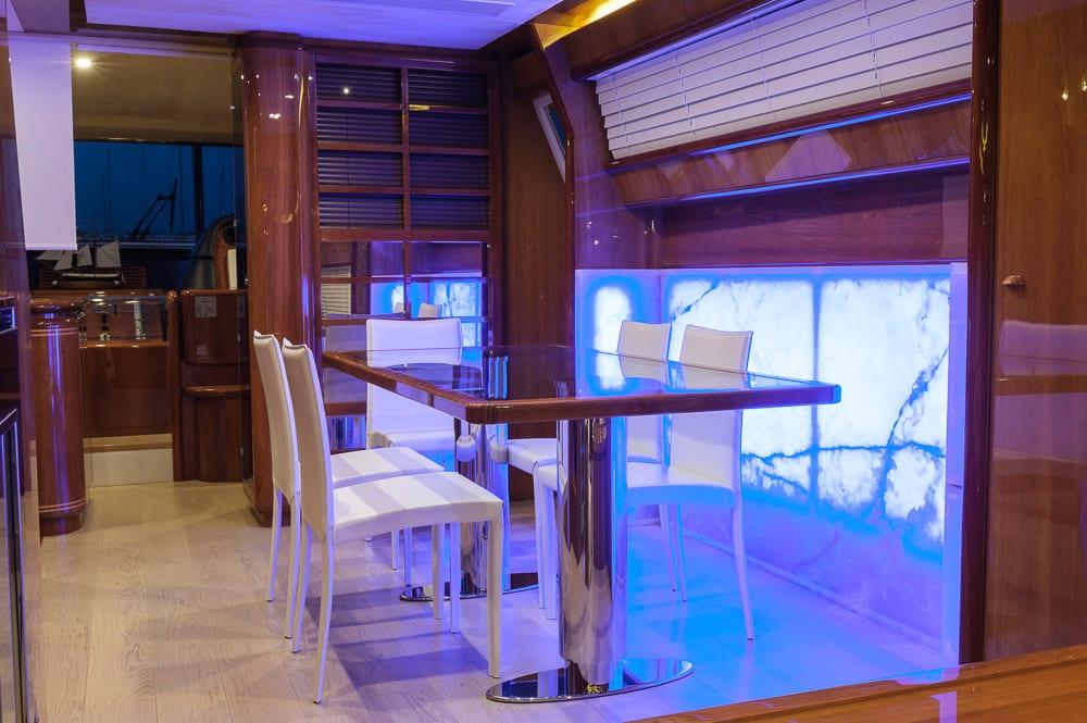 armonia motor yacht dining -  Valef Yachts Chartering - 3261