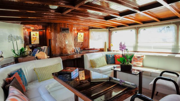 astarte motor sailer lounge to aft -  Valef Yachts Chartering - 3599